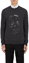 Alexander McQueen Men's Distressed Wool-Cashmere Sweater