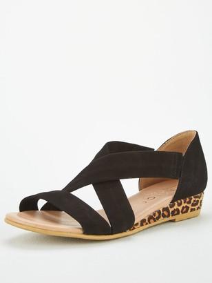 Office Hallie Wedge Sandals - Black