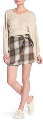 Blu Pepper Plaid Side Tie Mini Skirt