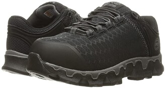 Timberland Powertrain Sport Alloy Toe SD+ (Black Synthetic) Women's Work Lace-up Boots