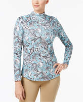 Charter Club Cotton Print Top, Created for Macy's