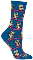 Hot Sox Owl with Glasses Print Socks