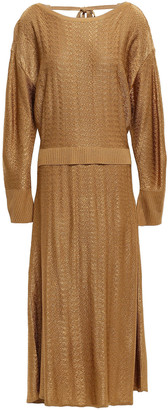 Esteban Cortazar Textured Knitted Midi Dress