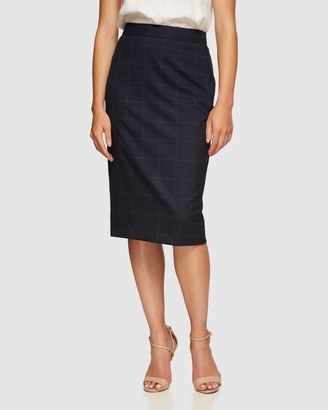 Oxford Women's Leather skirts - Peggy Eco Checked Suit Skirt - Size One Size, 6 at The Iconic