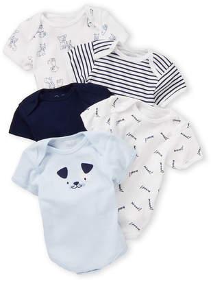 Rene Rofe Newborn Boys) 5-Pack Dog & Striped Bodysuits