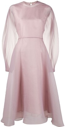 Beaufille Puff-Sleeve Organza Dree
