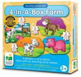 The Learning Journey My First Puzzle Sets 4-In-A-Box Puzzles, Farm 20pc