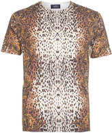 Topman White Leopard Baroque Pattern T-Shirt