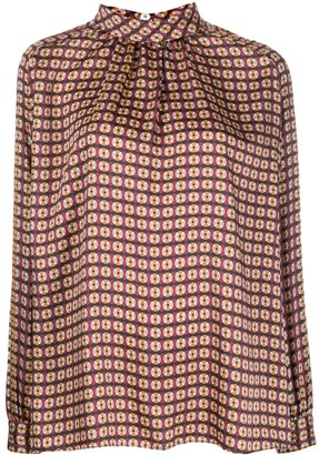 Mulberry Hettie dotted blouse