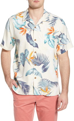Tommy Bahama Bird's Eye View Tropical Silk Camp Shirt