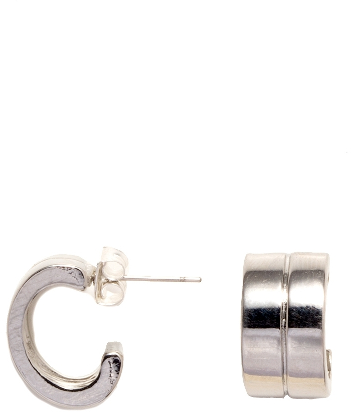 The Limited Chunky Lined Hoop Earrings