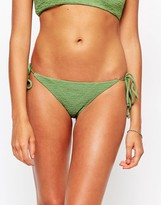 Beach Riot Stone Cold Fox For Textured Tie Side Bikini Top