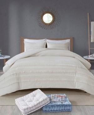 Madison Home USA Amaya King/California King 3 Piece Cotton Seersucker Duvet Cover Set Bedding
