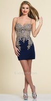 Dave and Johnny Spaghetti Strap Sweetheart Homecoming Dress