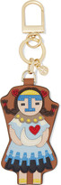 Tory Burch Moongirl paneled textured-leather keychain