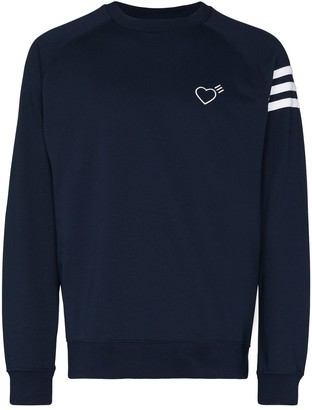 adidas x Human Made heart-embroidered sweatshirt