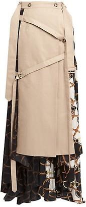 Rokh Pleated Wrap Maxi Skirt