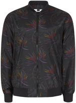 Topman Black Floral Print Bomber Jacket