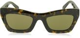 Celine EVA CL 41399/S O86X7 Havana Acetate Cat Eye Women's Sunglasses