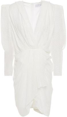 IRO Victoria Draped Fil Coupe Silk-blend Georgette Dress
