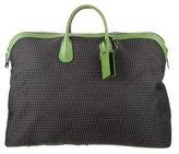 Valextra Leather Trimmed Weekender Bag