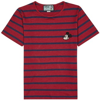 Gucci X Disney red linen-blend T-shirt