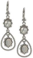 Marchesa Silver-Tone Crystal Drop Earrings