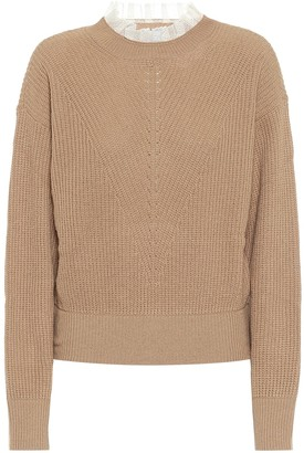 RED Valentino Lace-trimmed sweater