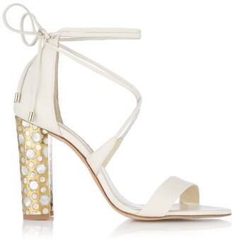Soraya Freya Rose Ivory - Block Heel Sandal In Ivory Leather