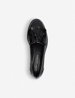Kurt Geiger Klarke snake-embossed leather tassel loafers