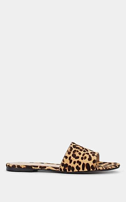 Gianvito Rossi Women's Leopard-Print Calf-Hair Sandals - Brown