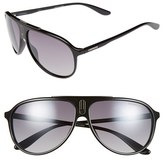 Carrera Men's Eyewear 61Mm Aviator Sunglasses - Grey Blue/ Blue