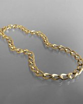 M+J Savitt gold twisted chain link necklace
