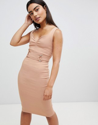 Vesper Vepser v neck strap pencil midi dress