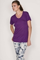 K Allyn Short Sleeve Pocket Crew Tee in Purple