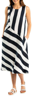 Yarra Trail Sleeveless Stripe Dress