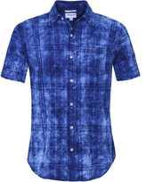 Slim Fit Short Sleeve Plaid Shirt