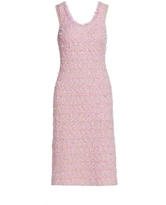 St. John Loose Weave Tweed Knit Dress