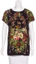 Dolce & Gabbana Secret Garden Cap Sleeve Blouse