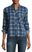 Rails Dana Grid-Print Denim Shirt, Midnight Grid