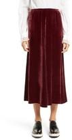 McQ Women's Velvet Midi Skirt