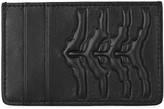 Alexander Mcqueen Black Ribcage Leather Card Holder
