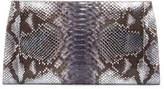 Nancy Gonzalez Metallic Python Slicer Clutch Bag