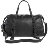 Mossimo Women's Weekender Faux Leather Handbag Black