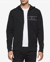 Calvin Klein Jeans Men's Rebel Logo-Print Full-Zip Hoodie