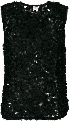 Comme des Garcons Pre-Owned sheer knitted blouse