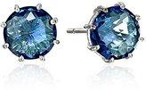 Suzanne Kalan Kalan by English Blue Topaz 14k White-Gold Stud Earrings