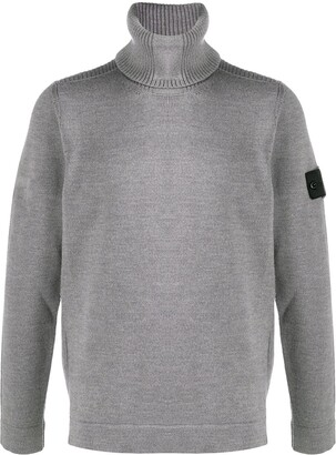 Stone Island Shadow Project Logo Patch Roll-Neck Jumper