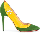 Charlotte Olympia banana pumps - women - Suede/Leather - 36