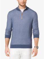 Michael Kors Cotton-Pique Half-Zip Pullover